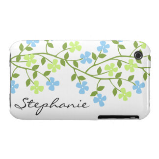 Floral Dainty Blooms Personalized iPhone 3 Case