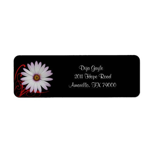 Floral Daisy Address Label