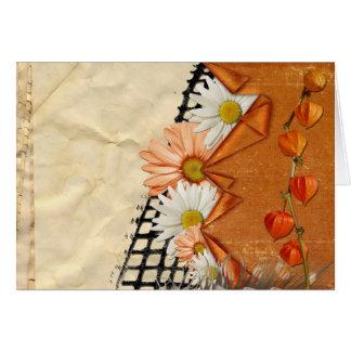 Floral Daisy Blossoms Destiny Gardens Card