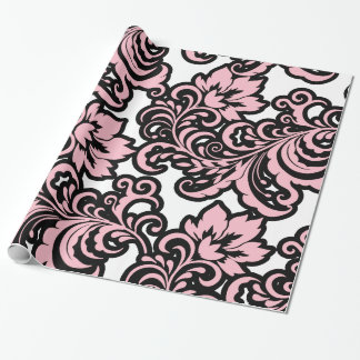 Floral Damak Pattern Wrapping Paper