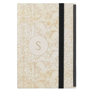 Floral Damask Creme and Beige iPad Mini Cover