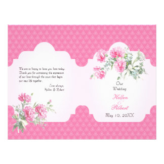 Floral Damask Elegant Wedding Ceremony Program Flyer