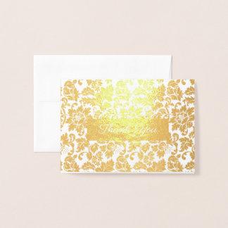 Floral Damask Foil Card