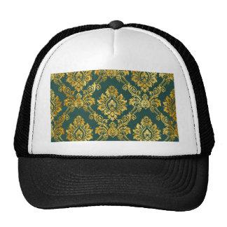 Floral Damask Gold Pattern Trucker Hat