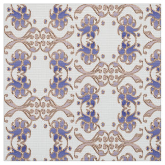 floral damask golden element. fabric