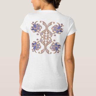 floral damask golden element. T-Shirt