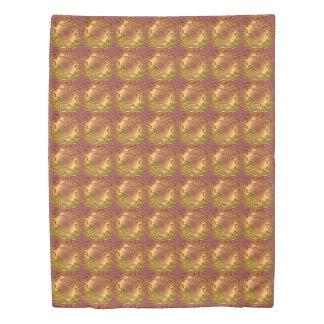 Floral damask golden pattern duvet cover