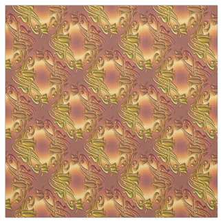 Floral damask golden pattern fabric
