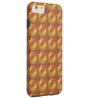 Floral damask golden pattern tough iPhone 6 plus case