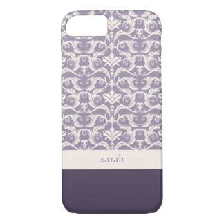 Floral Damask Pattern Custom Color iPhone 8/7 Case