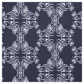 Floral damask pattern fabric
