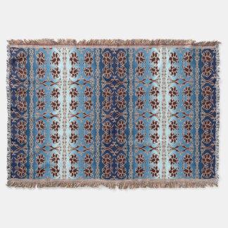 floral damask pattern throw blanket