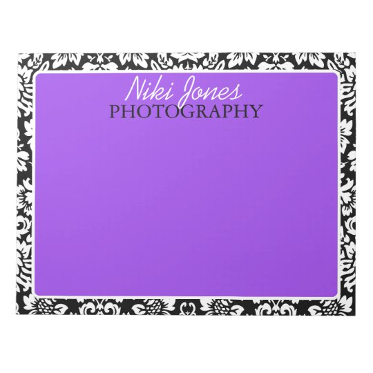 Floral Damask | Purple Notepad