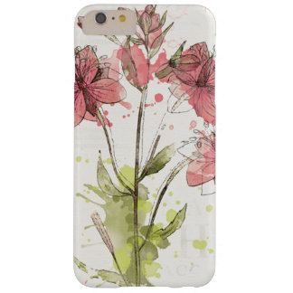 Floral Dark Pink Splash Barely There iPhone 6 Plus Case