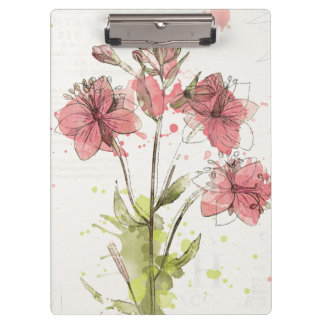 Floral Dark Pink Splash Clipboard