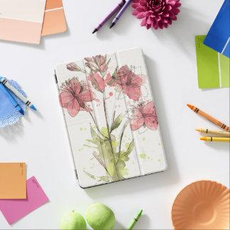 Floral Dark Pink Splash iPad Air Cover