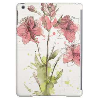 Floral Dark Pink Splash iPad Air Covers