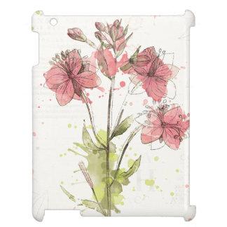 Floral Dark Pink Splash iPad Cases