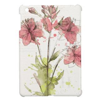 Floral Dark Pink Splash iPad Mini Case