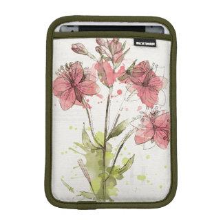 Floral Dark Pink Splash iPad Mini Sleeve