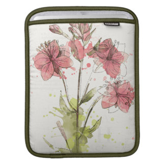 Floral Dark Pink Splash iPad Sleeve