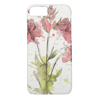 Floral Dark Pink Splash iPhone 8/7 Case
