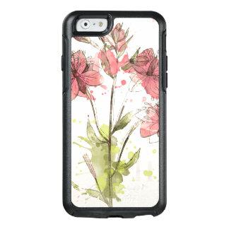 Floral Dark Pink Splash OtterBox iPhone 6/6s Case