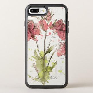 Floral Dark Pink Splash OtterBox Symmetry iPhone 8 Plus/7 Plus Case