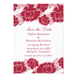 Floral Decadence Save the Date Invite, Pink