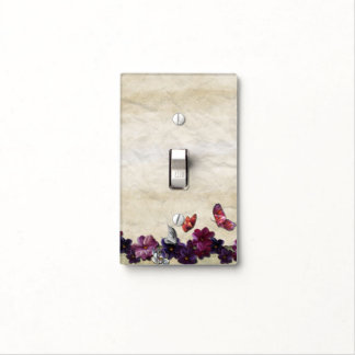 Floral decor light switch cover