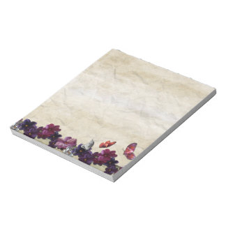 Floral decor notepad