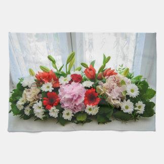 Floral decoration kitchen towel
