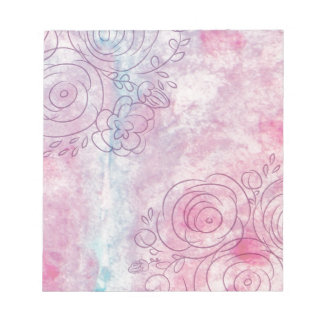 Floral Decorative illustration of leaves and flowe Notepads
