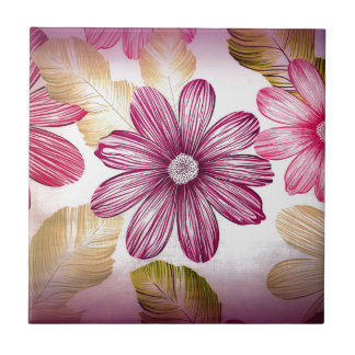 floral design art tile