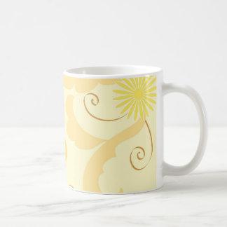 Floral design basic white mug