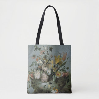 floral design, beautiful soft colours tote bag