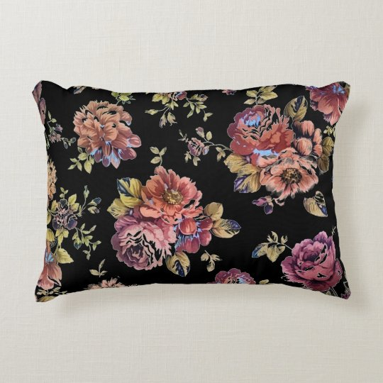 Floral Design Decorative Pillow