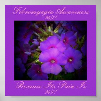 Floral Design-Fibromyalgia Awareness Poster