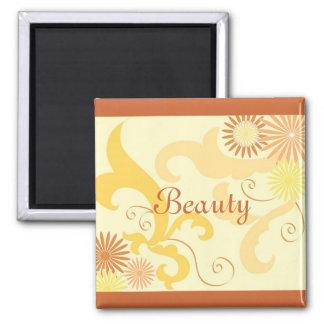 Floral design magnet