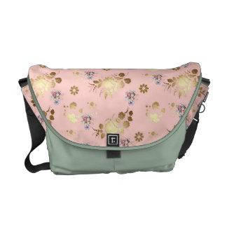 Floral design messenger bag