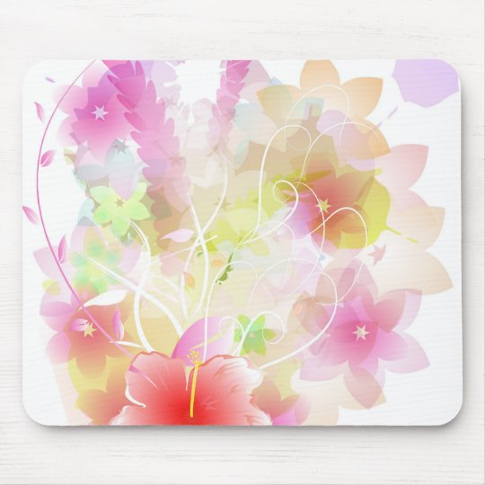 floral design mouse pad