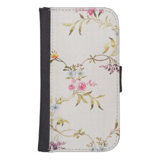 Floral design of carnations and roses for a silk m galaxy s4 wallet