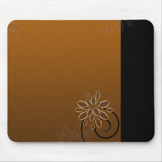 Floral design on chocolate texture mouse pad