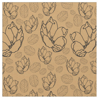 Floral Design on Combed Cotton Fabric