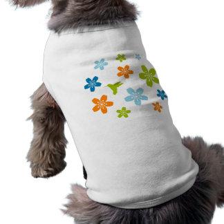 Floral Design Pet T Shirt
