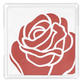 Floral Design - Red Rose - Vanity Tray