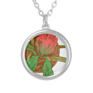 Floral Design Silver Plated Necklace