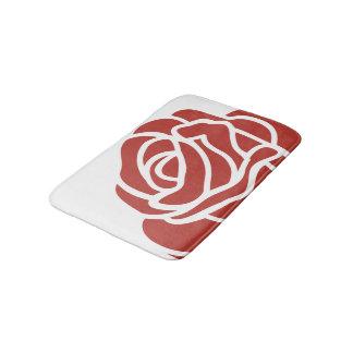 Floral Design - Single Red Rose - Bath Mat