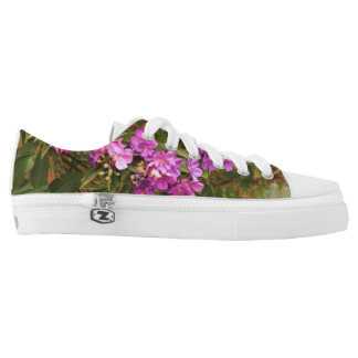 Floral design Zipz Low Top Shoes