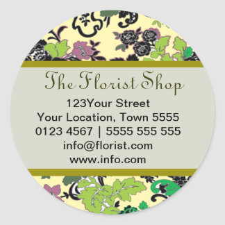 Floral Designed Sticker